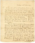 1825 September 28: H. Boswell, Batesville, to Governor George Izard, Report of militia