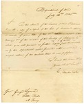 1825 July 26: C. Vandeventer, Department of War, to Governor George Izard, Report of the Colonel of Ordnance concerning arms of Arkansas militia
