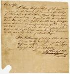 1825 August 29: Henry Sanford, Lawrence County, Certificate of election of John Hynes as Representative to Territorial Legislature