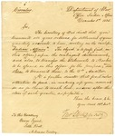 1825 December 1: Thomas L. McKenney, Department of War, to Governor George Izard, Concerns Indian affairs