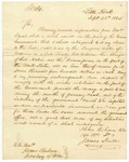 1825 September 28: James Scull to James Barbour, Secretary of War, Reply to order for survey of Quapaw boundary line, and 1825 November 2: Thomas L. McKenney, Department of War, to Governor George Izard, Reply to James Scull letter.