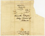 1825 March 27: Envelope, Menard Valle, St. Genevieve, Missouri, to Acting Governor Crittington [Crittenden]