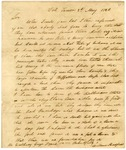 1826 May 2: William Bradford, Fort Towson, to Governor George Izard, Report of Indian activities