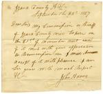 1827 September 23: John Adams, Izard County, to Governor Izard, Request reappointment as sheriff