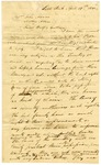 1830 April 19: William S. Fulton, Little Rock, to John Adams, Mathew Adams, and Jacob Wolf, Izard County, Assurance of their right to settle on public lands