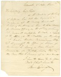 1830 October 2: James Livingston, Crittenden County, to Governor Pope, Appointment of William D. Ferguson as Colonel of Militia