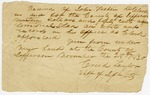 1830 November 28: Creed Taylor, Sheriff of Jefferson County, to John Fisher, Receipt for taxes