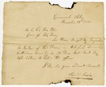 1831 December 18: Samuel Lewis, Greenock, Arkansas Territory, to Governor John Pope, Resignation as Justice of the Peace of Hopefield Township, Crittenden County