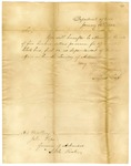 1832 January 16: Lewis Cass, Department of War, to Governor John Pope, Appointment of Pope as Superintendent of Indian Affairs for Arkansas Territory