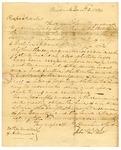 1834 January 2: John Van Wort, Newark, New Jersey, to Auditor of Arkansas, Military bounty Land Claims