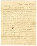 1834 October 12: Louisa Thompson, Philadelphia, Pennsylvania, to the Auditor of Arkansas, Military bounty Land Claims