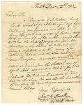 1834 December 22: Benjamin C. Brooken, Philadelphia, Pennsylvania, to the Auditor of Arkansas, Military bounty Land Claims