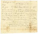 1834 November 25: Solomon R. Chery, Clerk, Crittenden County, to the Sheriff of Crittenden County, Copy of Pedlar's License