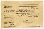 1835 December 1: C.P. Bertrand, Territorial Treasurer, to Joseph H. Egner, Sheriff of Independence County, Receipt for taxes