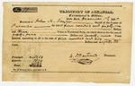 1835 December 1: C.P. Bertrand, Territorial Treasurer, to John K. Taylor, Sheriff of Pulaski County, Receipt for taxes