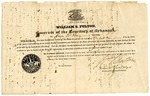1835 October 27: Governor William S. Fulton to Amos D. King, Commission as Justice of the Peace in Pulaski County