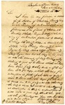1835 March 16: Henry Mathew, Binghamton, New York, to Territorial Auditor, War of 1812 military bounty Land Claims