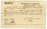 1835 December 1: James Scull, Territorial Treasurer, to James M. Kuykendall, Sheriff of Lawrence County, Receipt for taxes