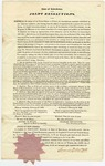 1836 February 12: James D. Westcott, Secretary of State of New Jersey, Printed copy of joint resolutions supporting the President in dealing with France