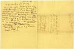 1837 April 11: R.J. Rambo, Benton, to Governor James S. Conway, Resignation as Appraiser of Land for Real Estate Bank of the State of Arkansas in Hempstead County