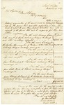 1837 November 6: Lieutenant R.D.C. Collins to Governor James S. Conway, Chart and estimate of cost of road from Missouri boundary to southern boundary of Arkansas Territory