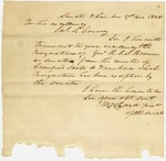 1838 December 17: M.W. Izard, President of the Senate, to Governor James S. Conway, Resignation of R.C. Brown as Senator from Crawford County