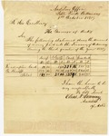 1838 October 1: Elias N. Conway, Auditor, the Governor of Arkansas, Quarterly report