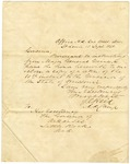1838 September 13: J.C. Reid, St. Louis, to Governor Conway, Transmitting letter from the Governor of Missouri
