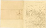 1838 August: J.W. Green to S.G. Simmons, Information of Hostile movements of Indians on Texas frontier