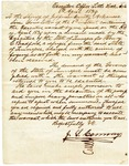 1839 April 6: Governor J.S. Conway to Sheriff of Jefferson County, Warrant for the arrest of Henry C. Bradford, fugitive from Tennessee