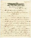 1839 December 14: Aaron M. Palmer, New York, to Governor James S. Conway, Circular concerning sale of Arkansas State Bonds in European markets