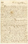 1839 September 18: James Whitcomb, Commissioner, General Land Office, to Levi Woodbury, Secretary of Treasury, Concerning land claims of Matthew Cunningham, et al., with Woodbury's reply on last page