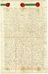 1840 October 3: Edward Cole, Little Rock, to George H. Burnett, Deed of sale of newspaper,