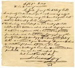 1841 September 7: Jehoiada Jeffery, Probate Judge, Izard County, to Governor A. Yell, Recommending appointment of Benjamin Hawkins as special probate judge