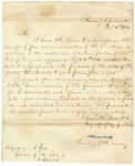 1841 December 4: W. Forward, Secretary of Treasury, to Governor A. Yell, Concerning the sale of public lands and granting of preemption rights