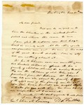 1841 June 30: W.S. Fulton, Washington, to Elias N. Conway, Bank question in Congress