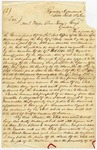 1841 June 5: Governor A. Yell to W.S. Fulton and E. Cross, Concerning New Madrid land grants in Little Rock
