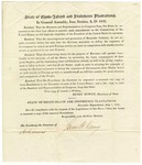 1841 July 1: State of Rhode Island to the Governor of Arkansas, Proposing several amendments to the United States Constitution