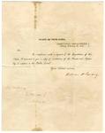 1841 February 29: William H. Seward, New York, to the Governor of Arkansas, Resolutions by New York Legislature on the subject of public lands