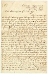 1841 February 8: Governor A. Yell to Commissioner of the General Land Office, Concerning land donations to the State of Arkansas