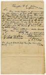 1842 April 1: I. Davis, Barryton, Alabama, by H.J. Y. Moss, to Secretary of State of Arkansas, Military bounty land claims