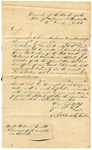 1842 December 17: James M. Kisick, Cashier, Bank of the State of Arkansas, to William Trimble, Chairman of Senate Committee of Banking, Report on branch bank