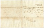 1843 March 11: J.M. Porter, Department of War, to Messrs. A. Cox, I.A.P. Carr, John Scott, and others, Beatties Prairie, Cherokee Nation, Concerning the occupancy of Fort Wayne