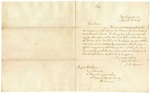 1843 March 3: J.C. Spencer, War Department, to A.P. Carr, W.J. Howard, R. Armstrong, et al., Benton County, Concerning the occupancy of Fort Wayne