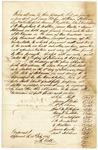 1843 February 2: John Hutt, et al., to Governor A. Yell, Security bond for election of Hutt as treasurer of Arkansas