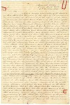 1843 October 17: Elias N. Conway, Auditor, to Governor A. Yell, Report on accounts on John Hutt, State Treasurer