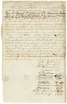 1843 January 31: William E. Butts, Trustee, Real Estate Bank of the State of Arkansas, et al., to Governor A. Yell, Bond for Butts and others to liquidate the affairs of the bank