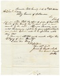 1844 October 16: James C. Gault, Danville, Arkansas, to Samuel Adams, Acting Governor of Arkansas, Concerning appointment of successor of Maurice Brown, Yell County probate judge