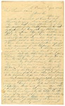 1844 April 18: John C. Johnson, Mount Vernon, Arkansas, to Samuel Adams, Acting Governor, Request for appointment as land agent