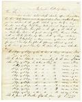 1844 October 29: Simon T. Sanders, Washington, Arkansas, to E.N. Conway, Auditor, Report on Common Schools of Hempstead County